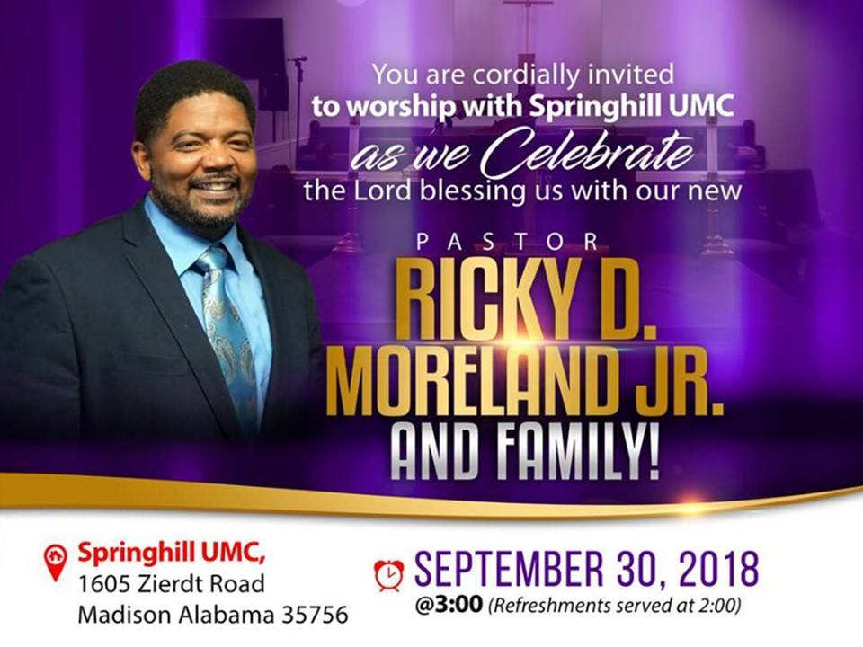 Pastor Ricky D. Moreland Jr. Order of Appointment (30 September, 2018)